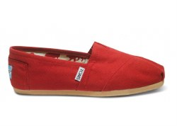 TOMS WOMENS RED CANVAS 7