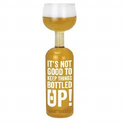 BIG MOUTH WINE GLASS BOTTLE UP
