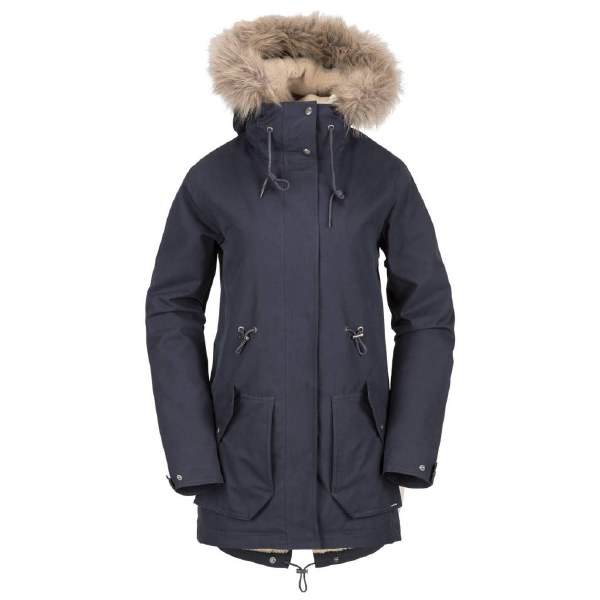 VOLCOM LESS IS MORE PARKA SEA NAVY M