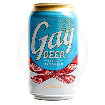 Gay Beer Lager - 12oz Can
