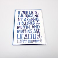 Muffins Birthday Card