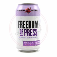 Freedom Of Press - 12oz Can