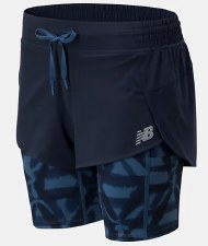 New Balance Printed Impact 2 in 1 Short