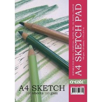 Create Spiral Sketch Pad A4