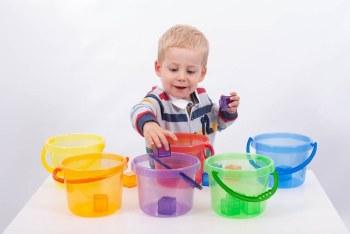 Translucent Colours Bucket Set