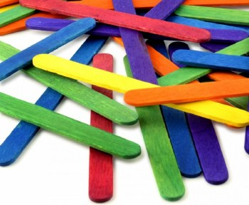 Coloured Lollipop Sticks (500)