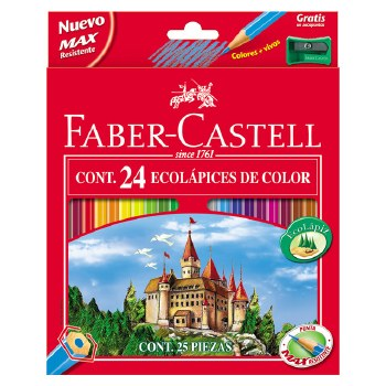 Faber Castell Col Pencils 24's