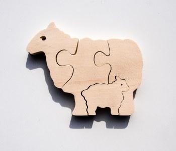 Parent+Baby Jigsaw - Sheep