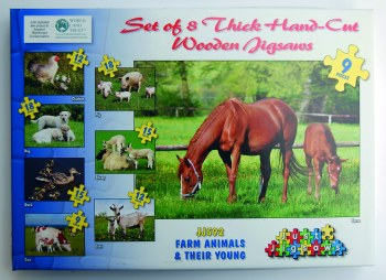 Puzzle Farm Animals & Young
