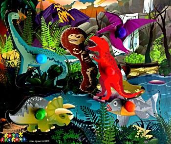 Peg Puzzle - Dino Fossils