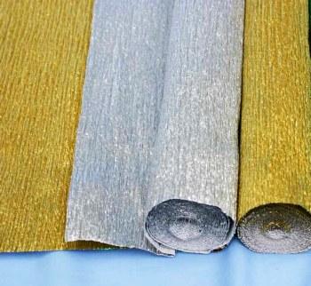 Metallic Crepe Paper Silver