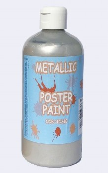 Poster Paint - Silver (500ml)