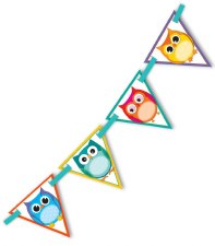 Bunting - Colourful Owls