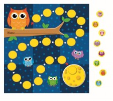 Mini Incentive Chart - Owls