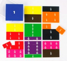 Fraction Squares Printed