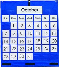 Pocket Chart Monthly Calendar