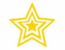 Merit Stampers Gold Star x3