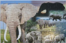 Puzzle - Elephants