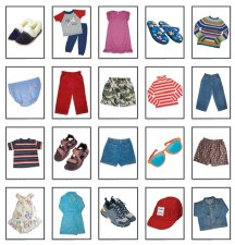 Language Cards Kids Clothes