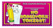 Reward Coupons - No Homework