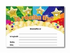 Award Certifcate - As Gaeilge