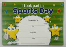 Award Certificate - Sports Day