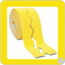 Corrugated Borders Yellow