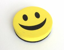 Magnetic Eraser Smiley Face.