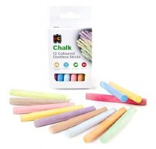 Coloured Dustless Chalk 12