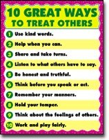Poster 10 Ways To Treat Others
