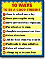 Poster Be A Good Student