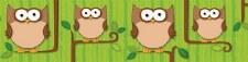 Straight Border - Owls