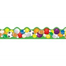 Scalloped Trim - Sports Balls