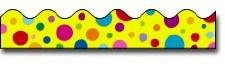 Scalloped Trim - Yellow Spots