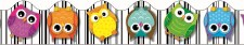 Scalloped Trim - Col. Owls