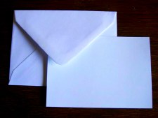 Cards & Envelopes White