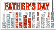 Seasonal Stickers Fathers Day