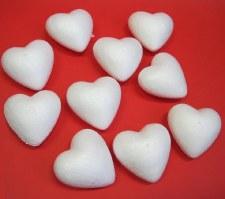 Polystyrene Hearts - 10