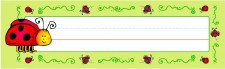 Desk Name Plates - Ladybug