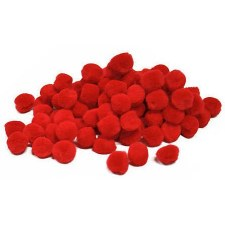 Pom Poms - 25mm & 40mm Red