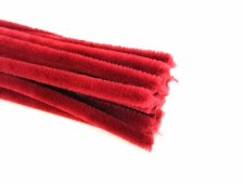 Pipe Cleaner - Chenille Red