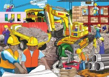 Excavator wooden Puzzle