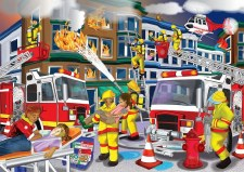 Firefighter wooden Puzzle (100
