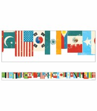 Flags Straight Border