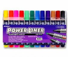 Power Liner Perm. Markers (12)