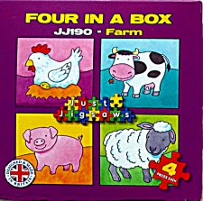 Four In A Box - Farm Animals