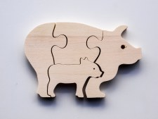Parent+Baby Jigsaw - Pig