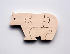 Parent+Baby Jigsaw - Bear
