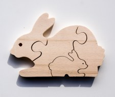 Parent+Baby Jigsaw- Rabbit