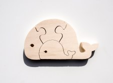 Parent+Baby Jigsaw - Whale